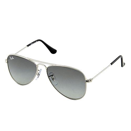 5ae448771dd0 Ray-Ban Jr. Kids Aviator Kids Sunglasses (RJ9506) Silver Shiny Grey
