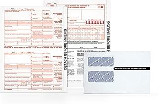 Adams 1099-MISC Kit for 2019, 5-Part Inkjet/Laser Sets for 50, 3 1096 Forms, 50 Peel & Seal Security Envelopes (TXA2250E)