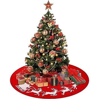 YQing 122cm Falda Arbol de Navidad, Estera de árbol de Decoración ...