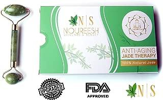 Jade Face Roller Massager - 100% Natural Green Nephrite Jade Stone, the Original Premium Anti-Aging Unisex Jade Therapy
