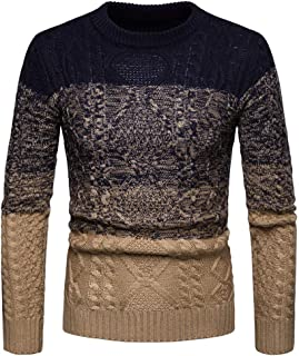 JinFZ Men Knitwear Without A Hood Round Neck Sweatshirt Spring and Autumn Business Casual Pullovers Thin and Light Breatha...