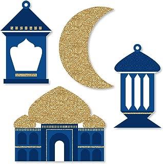 Big Dot of Happiness Ramadan - DIY Shaped Eid Mubarak Cut-Outs - 24 Count