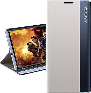 CASE BOX Galaxy M31/M21 case,Smart side window see-through flip phone case for Galaxy M31/M21/Silver