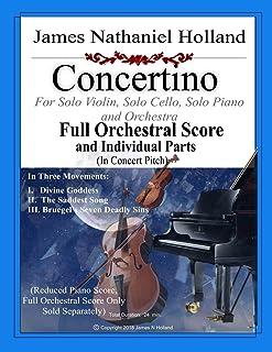 Concertino: For Solo Violin, Solo Cello, Solo Piano and Orchestra, FULL SCORE AND INDIVIDUAL PARTS