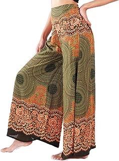 Women's Wide Leg Palazzo Pants Yoga Lounge Hippie Harem Flowy Trousers
