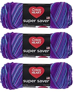 Red Heart E300-3931 Red Heart Super Saver Yarn - Grape Fizz