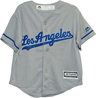 Los Angeles Dodgers Road Gray Cool Base Child Jersey