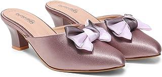 Butterflies Steps Fashion Heel Sandal for Women and Girls (Rose Gold)