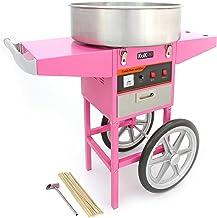 KUKOO - Machine à Barbe à Papa avec Charrette pour Fêtes et Événements