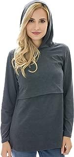 Bearsland Womens Nursing Hoodie Long Sleeves Casual Top Breastfeeding Sweatshirt