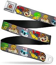 Buckle-Down Men's Seatbelt Belt Looney Tunes XL, Hip hop Expressions Gray, 1.5