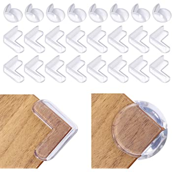 Impact Absorbent Corner Guards 24-Pack Corner Protectors for Baby Safety from Table Corners Cabinet Corner Cushion for Childproof SIENON-Clear Edge Bumpers High Resistant Furniture Corner Bumper