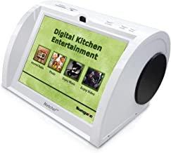 """Kitchen Radio, Counter-top Entertainment Center, Hi-Fi Speakers, Audio Book, 15K+ Radio Stations, Streaming Videos, Movies, Music, Auto Wi-Fi, Social Media, Recipes, 8""""Touch Panel"""