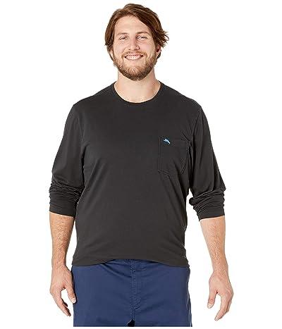 Tommy Bahama Big & Tall Big Tall New Bali Skyline Long Sleeve T-Shirt (Black) Men