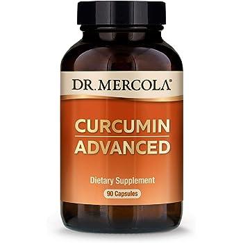 Dr. Mercola Curcumin Advanced, 500mg, 90 Servings (90 Capsules), Curcumin Supplements, Curcumin Spice, Non GMO, Soy-Free, Gluten-Free, Curcumin Root Extract