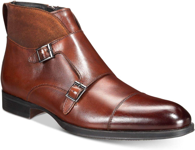 Alfani Mens Callan Leather Closed Toe Ankle Fashion Boots