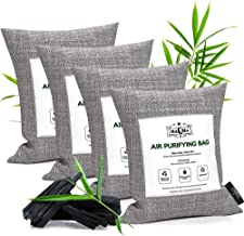 MaQma Bamboo Charcoal Air Purifying Bags (4 Pack) Natural, Activated Odor Eliminator, Freshener, Deodorizer | Car, Gym Bags, Bathrooms, Cat Litter Areas 4 X 200 Grams