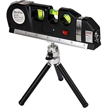 Multipurpose Laser Level Bundled w// 132 Piece Picture Hanging Kit Metric Rulers 8ft for Picture Hanging Cabinets Tile Walls