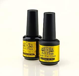 ArtPlus 15ml x 1 Lacquer Nail Top Coat UV Polish for Nail Art Protection and 15ml x 1 Matt Nail Top Coat UV Polish for Nail Art