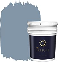 KILZ TRIBUTE Interior Satin Paint and Primer in One, 5 Gallon, Vintage Indigo (TB-48)