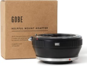 Gobe Lens Mount Adapter: Compatible with Nikon F Lens and...