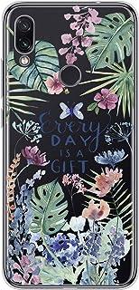 Suhctup Compatible con Xiaomi Redmi K30/K30 Pro Funda Flor de TPU Transparente Diseño de Flores Patrón Cárcasa Ultra Fina ...