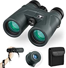 TELMU 10×42 Binoculars for Adult - Roof Prism BAK4, with Low Light Vision, FMC Lens Coating, Wide Angle HD Binoculars for Bird Watching, Hiking, Concerts, Sport, with Strap and Carrying Bag