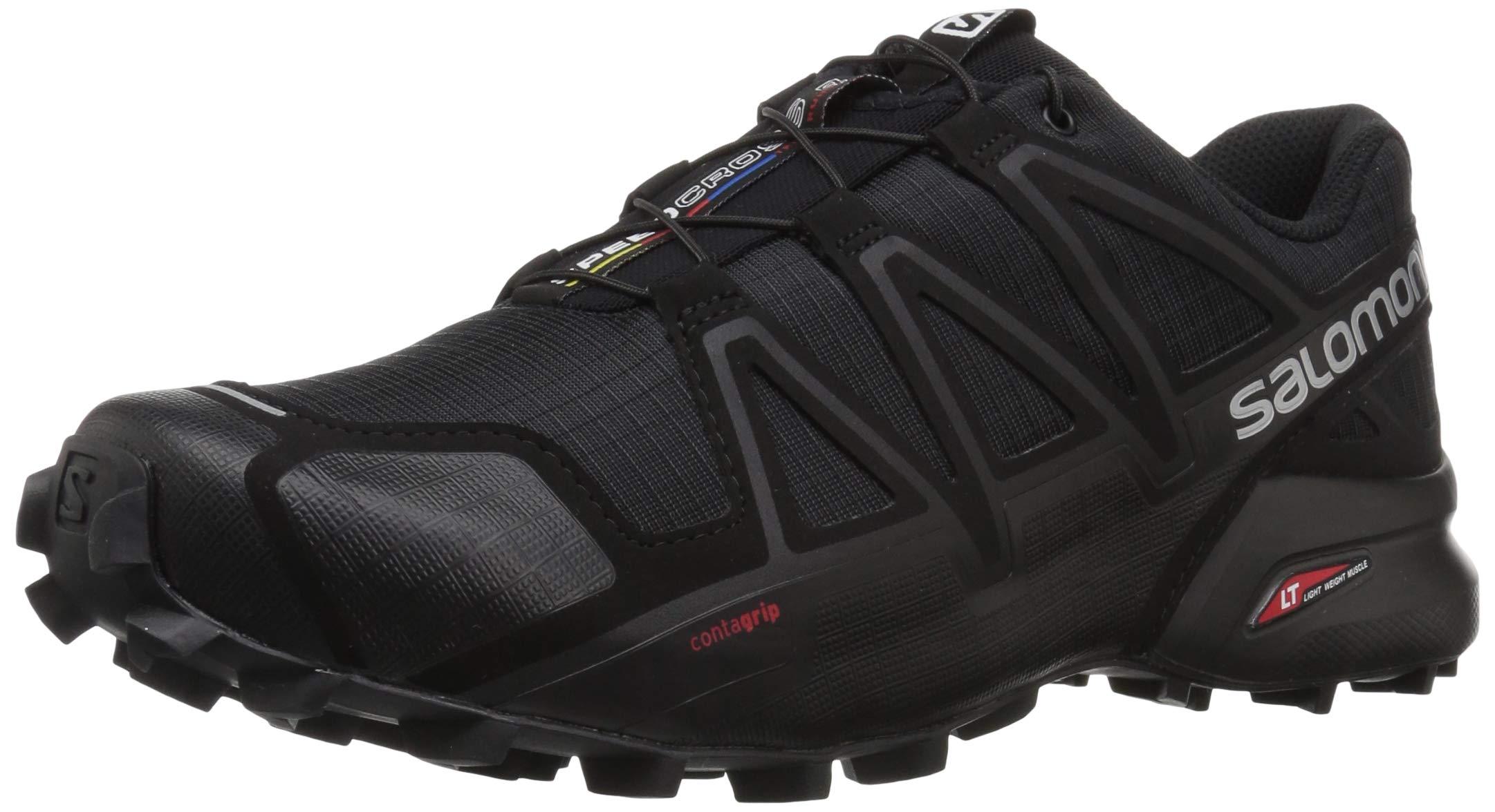 Salomon - Zapatillas para correr en montaña de Material Sintético para hombre negro black/black metallic: Amazon.es: Deportes y aire libre