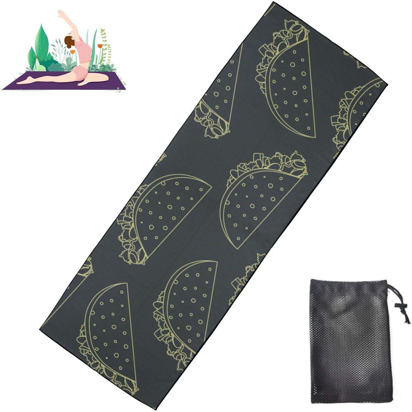Zaqiwa Soft Yoga Mats Cartoon Food Cheap mail order specialty store Breakfast Towel Sales Sandwich