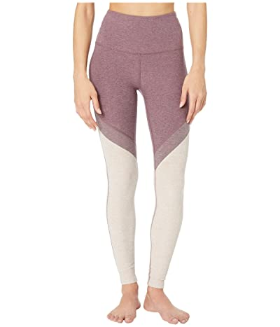 Beyond Yoga Spacedye High-Waisted Midi Leggings (Deep Blush/Wild Orchid) Women
