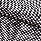 Hans-Textil-Shop Stoff Meterware Vichy Karo 2x2 mm Schwarz