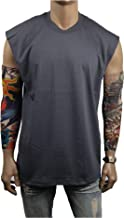 90210 Wholesale Men's Heavy Weight T-Shirt Plain Sleeveless Crew Muscle Tanktop Gym Bodybuilding