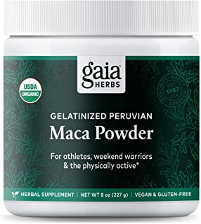 Gaia Herbs Organic Maca Powder, 8 Ounce - Peruvian-Grown Superfood Supports Energy, Stamina, Healthy Libido, Hormone Balan...