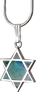 Sterling Silver Eilat Stone Pendant King Solomon Stone Pendant