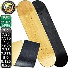 レベルロイヤル(REVEL ROYAL) スケボー スケートボード マスター ブランク デッキ & グリップテープ デッキテープ キッズ 子供用有り