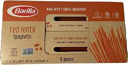 Barilla Gluten Free Red Lentil Spaghetti 4/12 Oz Net Wt 48 Oz