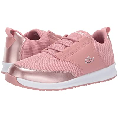 Lacoste Kids L.ight (Little Kid/Big Kid) (Pink/White) Girl