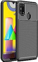 ValueActive Back Case Cover for Samsung M31 Case Cover Carbon Fiber Shock Proof Rugged Armor Slim Drop Tested Back Cover Case for Samsung Galaxy M31 (Black)