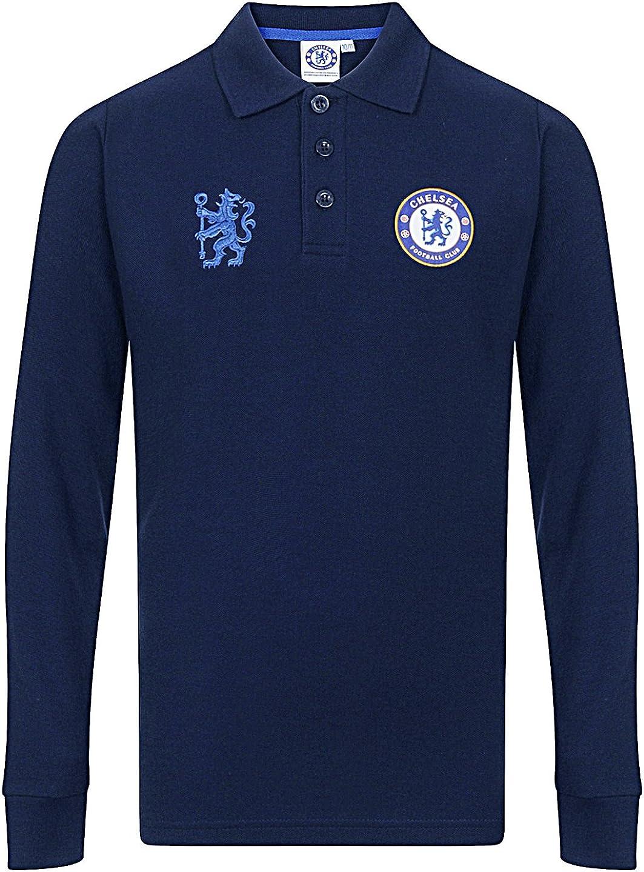 Chelsea Football Club Official Soccer Gift Boys Long Sleeve Polo Shirt