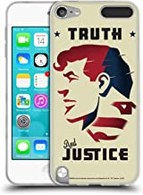 Official Superman DC Comics Truth and Justice Character Art Soft Gel Case Compatible for Apple iPod Touch 5G 5th Gen