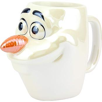 Paladone PP5129FZT Olaf - Taza con licencia oficial de Frozen Coleccionable, ideal para cocinas, oficina y hogar, forma única y súper divertida de beber tu bebida favorita, multicolor, aprox. 300 ml