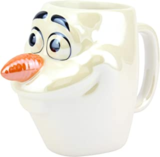Paladone Olaf - Taza con licencia oficial de Frozen Coleccionable, ideal para cocinas, oficina y hogar, forma única y súper divertida de beber tu bebida favorita, multicolor, aprox. 300 ml.