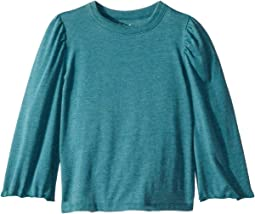 Extra Soft Long Sleeve Bell Sleeve Crew Neck Tee (Toddler/Little Kids)