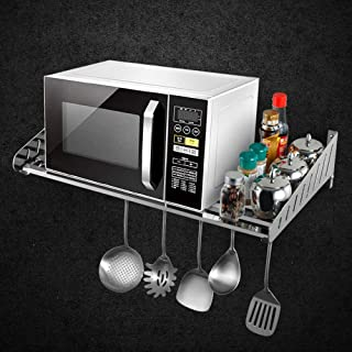 Horno de Microondas del Estante De pared de acero inoxidable 304 de microondas horno de carro estante de la cocina Bastido...