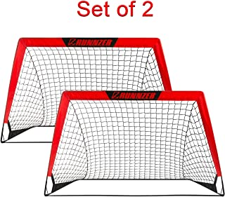 Portable Soccer Goal, Pop Up Soccer Goal Net for Backyard...