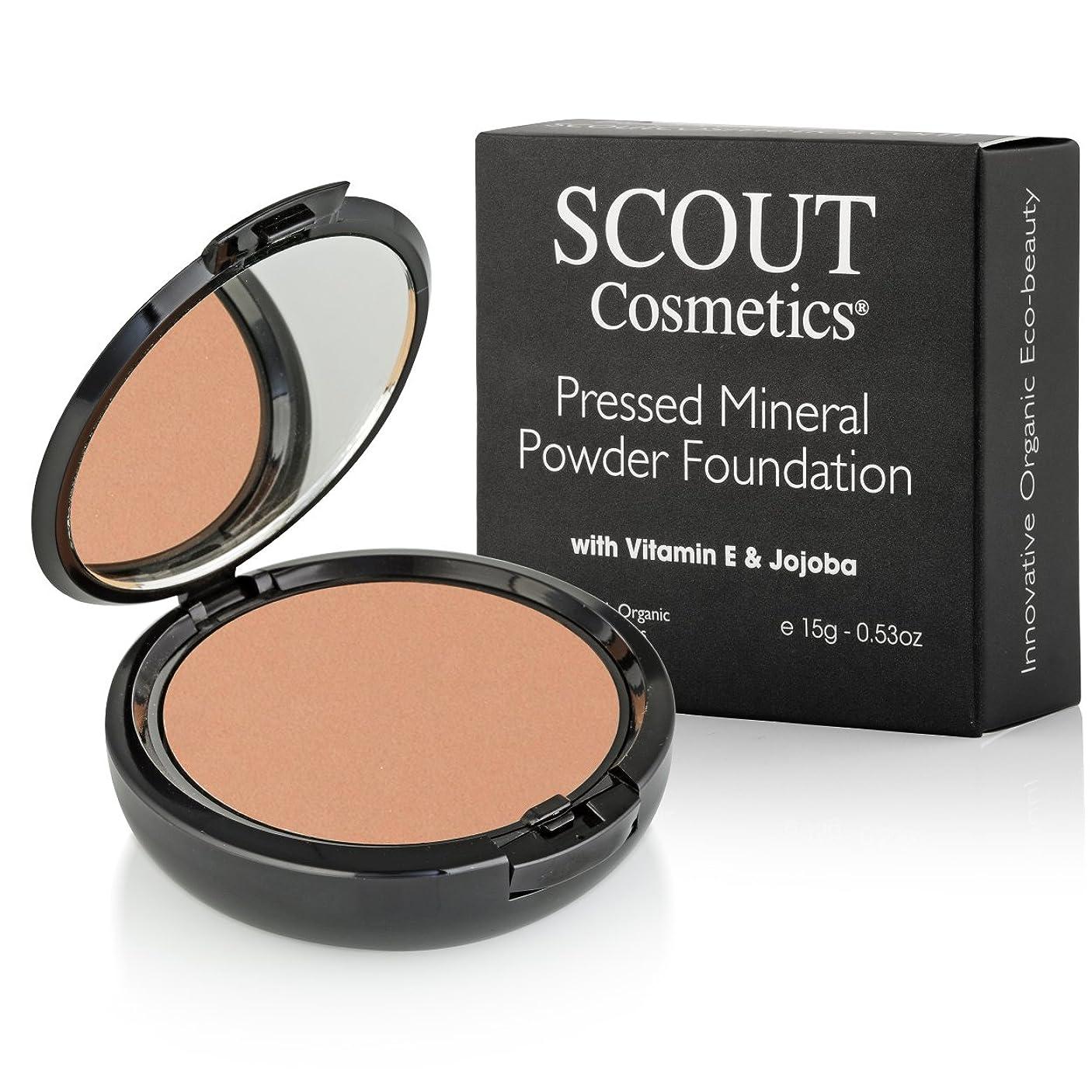 認証硬さレシピSCOUT Cosmetics Pressed Mineral Powder Foundation SPF 15 - # Almond 15g/0.53oz並行輸入品