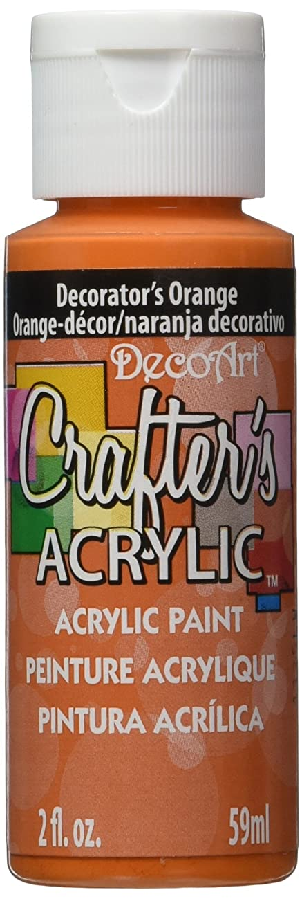 DecoArt Crafter's Acrylic Paint, 2-Ounce, Decorator's Orange