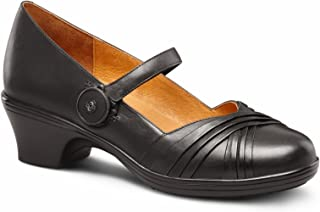 Cindee Women's Diabetic Extra Depth Heel Dress Shoe Leather BOA