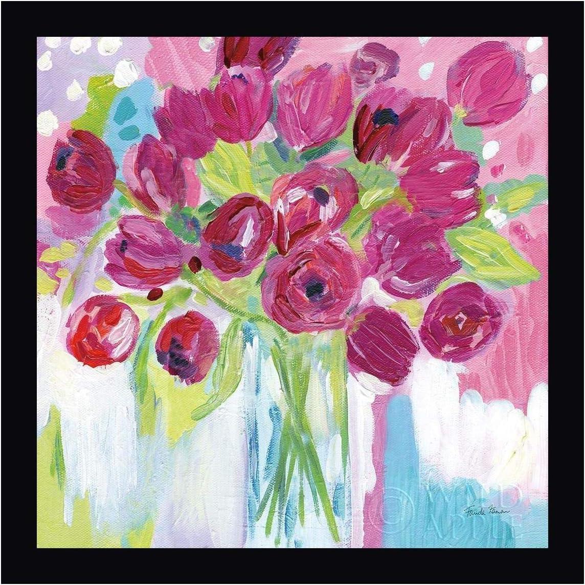 Joyful Tulips by Farida Zaman - Canvas Max 47% OFF List price Framed 20