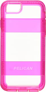 Pelican Voyager Rugged Case with Kickstand Holster for iPhone 6/6s - Retail Packaging - Clear & Pink
